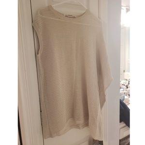 ALL SAINTS Open Knit Asymmetrical Sleeve/Hem Swtr